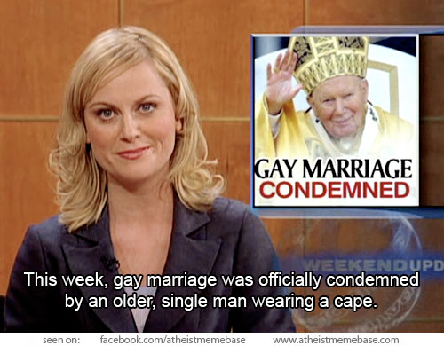 Gay marriage condemned