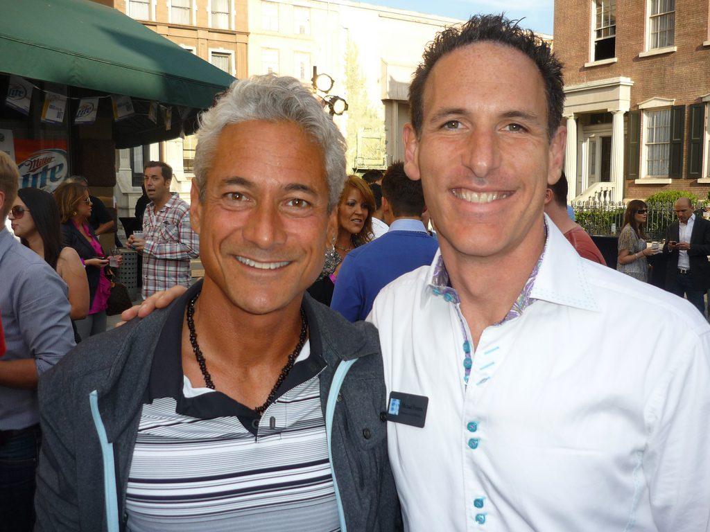 Greg Louganis and Michael Ferrera
