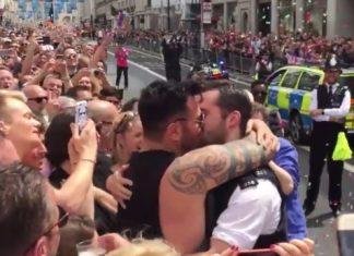 Gay policeman propose