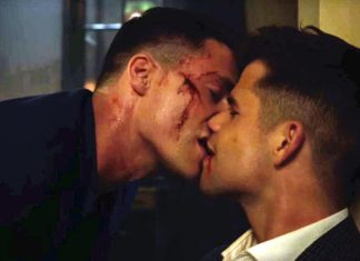 Colton Haynes and Charlie Carver