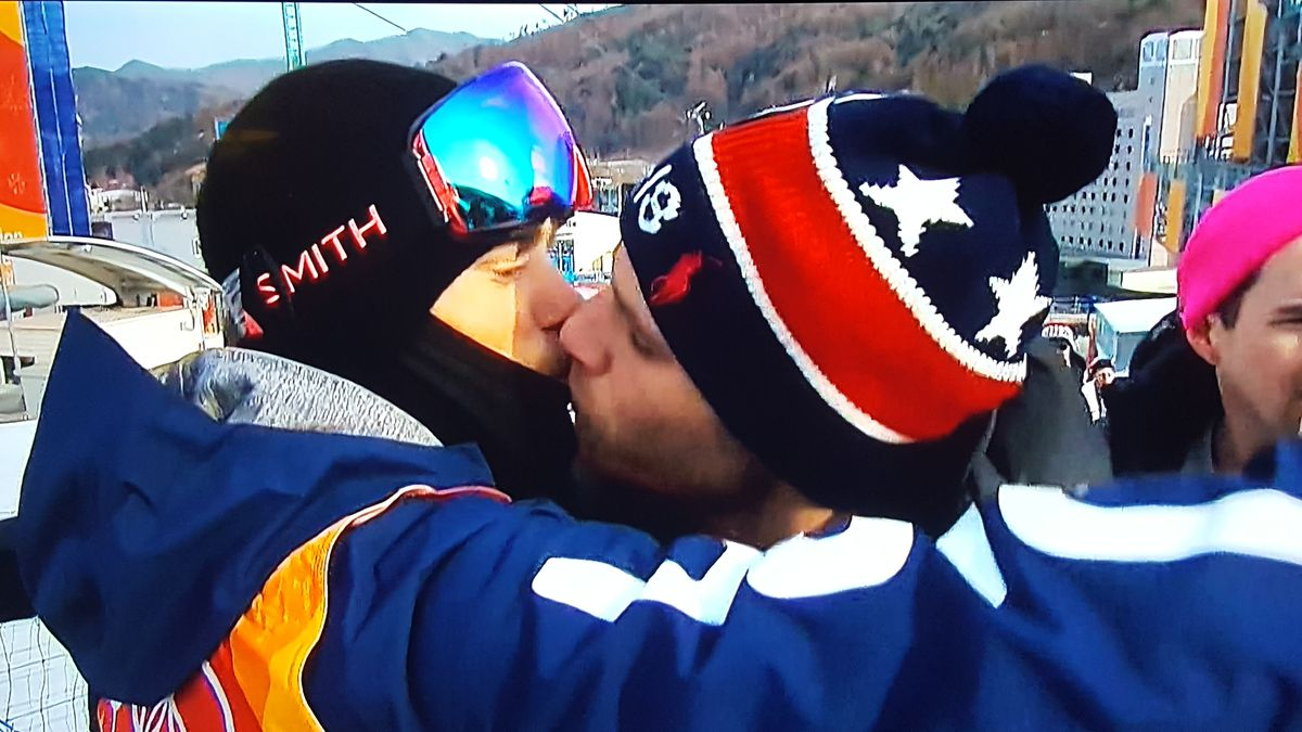 Gus Kenworthy gay kisses boyfriend Matt Wilkas